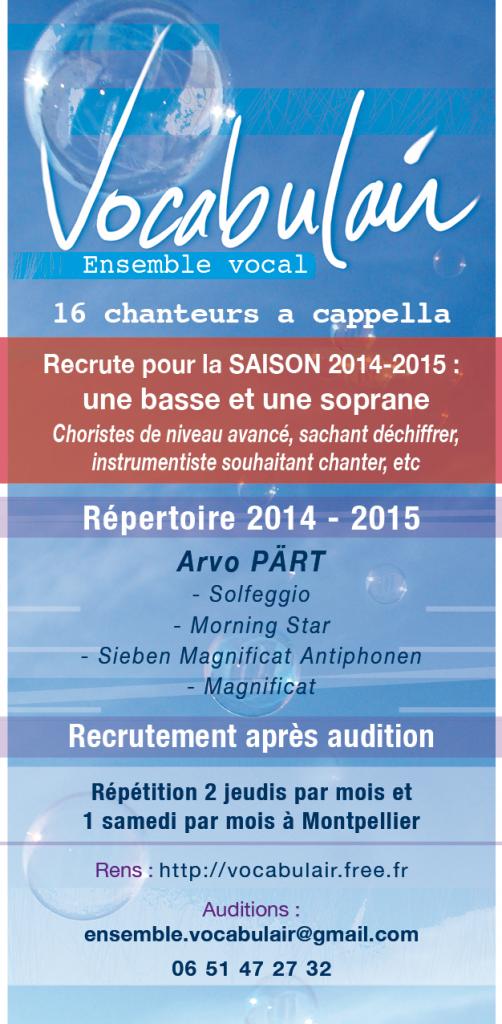 Flyer Recrutement 2014-2015